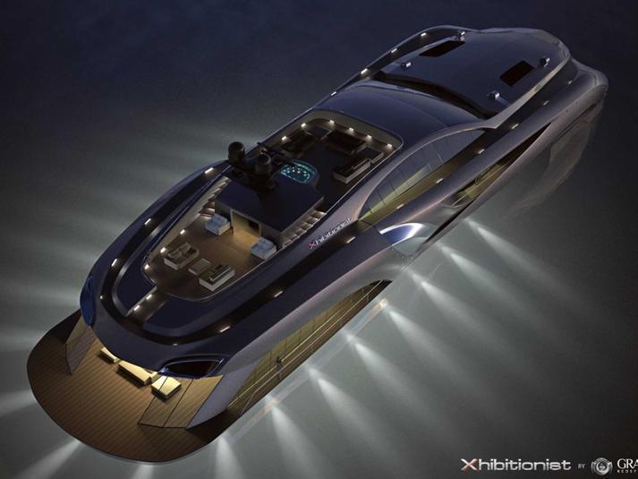 """بالفيديو والصور.. يخت فاخر يشبه سيارة """"باتموبيل"""" بسعر 25 مليون دولار"""