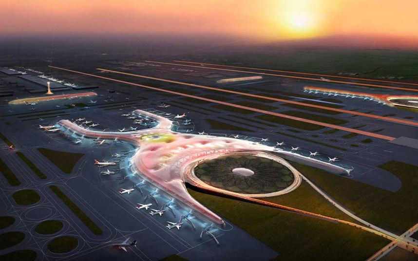 """بالصور .. مطارات جديدة رائعة قيد الإنشاء من بينها مطار """"آل مكتوم الدولي"""""""