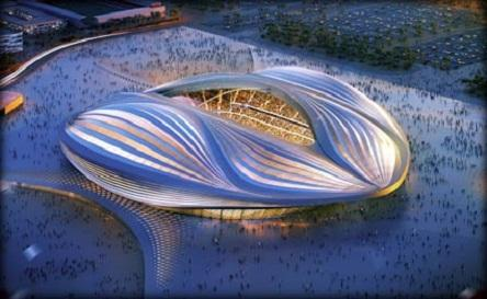 بالصور: اللجنة القطرية لكأس العالم 2022 تكشف عن تصميم استاد الوكرة الجديد