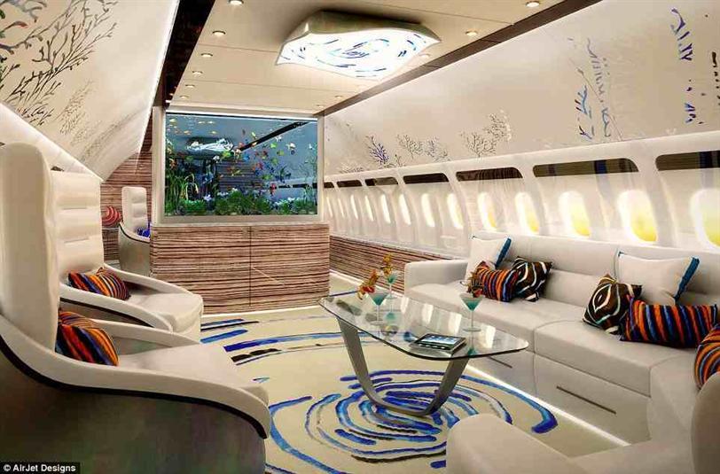 بالصور: رفاهية الطائرات الخاصة لفائقي الثراء من الداخل
